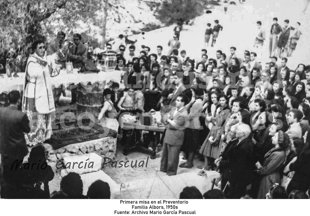 Primera misa en el Preventorio